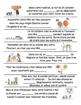 French listening activity: HALLOWEEN
