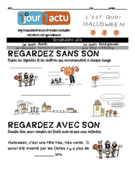 French listening activity: HALLOWEEN