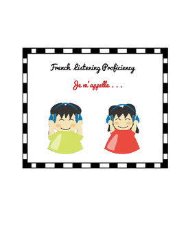 French listening activity - Je m'appelle (worksheet and video links)