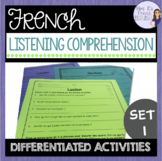 French listening comprehension activities COMPRÉHENSION ORALE