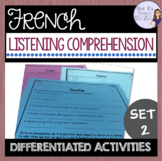French listening comprehension activities set 2 COMPRÉHENS