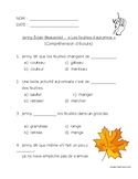 French listening comprehension:  automne