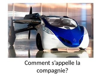 French listening writing comprehension FLYING CARS ppt REALLY DIFFERENT!