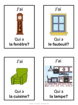 French ma maison - J'ai ... Qui a ...? game