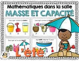 French math around the room: la masse et la capacité
