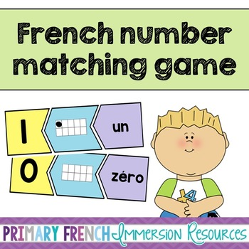 French number game - Matching numbers - Le jeu des chiffres