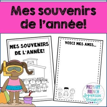 French memory book - mes souvenirs de l'annee!