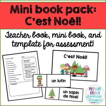 French Christmas / Noel mini book pack