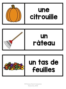 French mini book pack - L'automne
