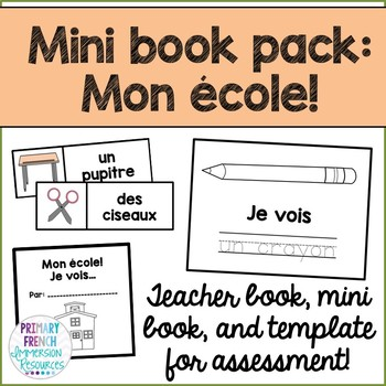 French mini book pack - Mon ecole