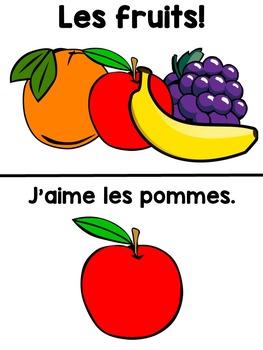 French mini books - Les fruits et les légumes!