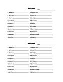 French mini quiz / exit ticket - les verbes au présent