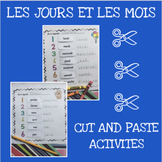 French months and days cut and paste activity - Les jours