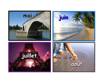 French months of the year Flashcards.