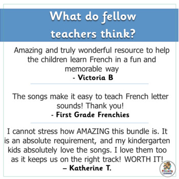 French: Chansons Phoniques BUNDLE - 37 mp3's & Classroom Charts (SASSOON)