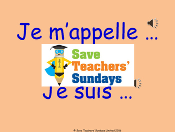 French names Lesson plan, PowerPoint (with audio) & List of French names