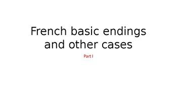 French nouns endings