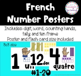 French number posters I les nombres
