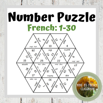 French number puzzle (#s 1-30)