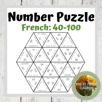 French number puzzle Casse-tête (#s 40-100)