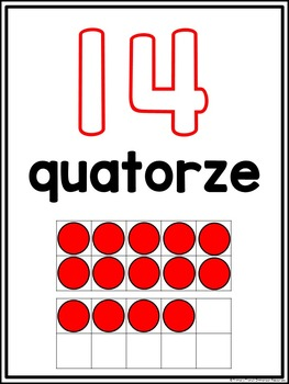 French numbers 0-20 - Les nombres 0-20