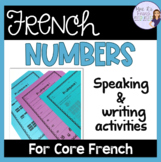 French numbers 1-100 speaking and writing activities LES N