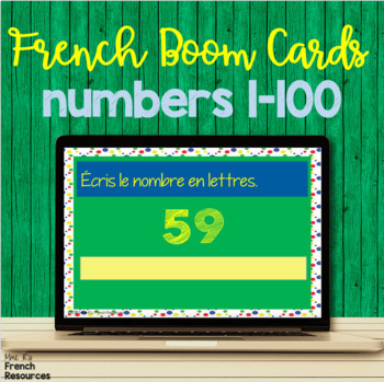 French numbers 1-100 task cards BOOM CARDS