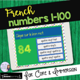 French numbers 1-100 digital task cards BOOM CARDS : Les nombres