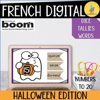 French numbers 1-20 I Boom cards halloween