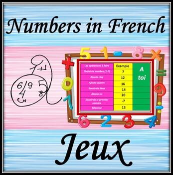 French numbers (0-25).  Games.  Jeux sur les nombres.