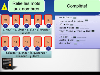 French numbers (0-30), les nombres PPT for beginners
