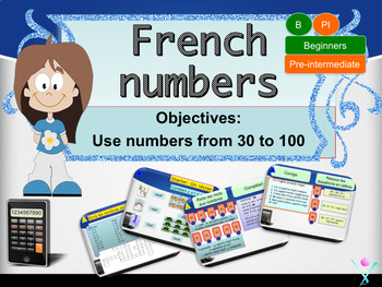 French numbers (30-100), les nombres PPT for beginners