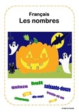 French numbers games and activities Halloween