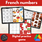 French numbers practice game - picture tiles