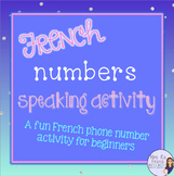 French numbers speaking activity