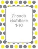 French numbers spelling worksheet