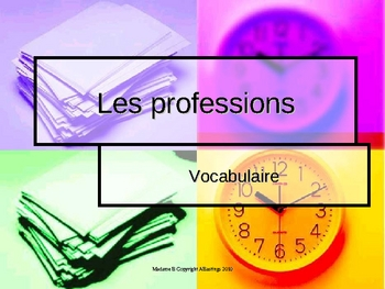 ~ on sale! French occupations vocabulary PowerPoint