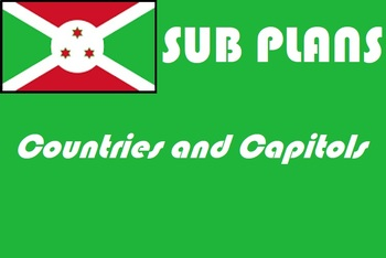 French or geography emergency sub plans countries and capitols