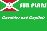 French or geography emergency sub plans countries and capi