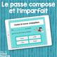 French passé composé and imparfait task cards - Boom cards