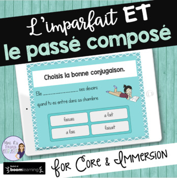 French passé composé /imparfait task cards BOOM CARDS French Distance Learning