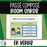 French passé composé -er verbs BOOM CARDS