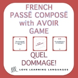 French passé composé game - Regular verbs with avoir - Que
