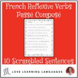 French passé composé reflexive verbs scrambled sentences exercise