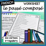 French – passé composé with avoir – les verbes irréguliers