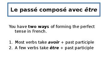 French - passé composé with être