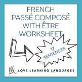 French passé composé with être -  French grammar worksheet