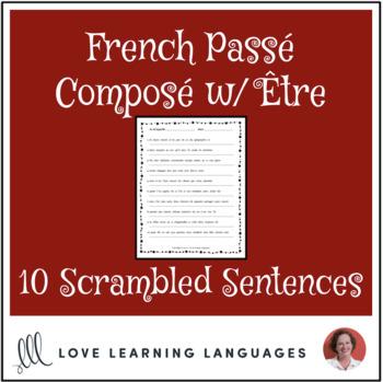 French passé composé with être scrambled sentences exercise