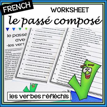 "French – passé composé with ""reflexive verbs""... by mrslryan ..."