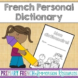 French personal dictionary booklet